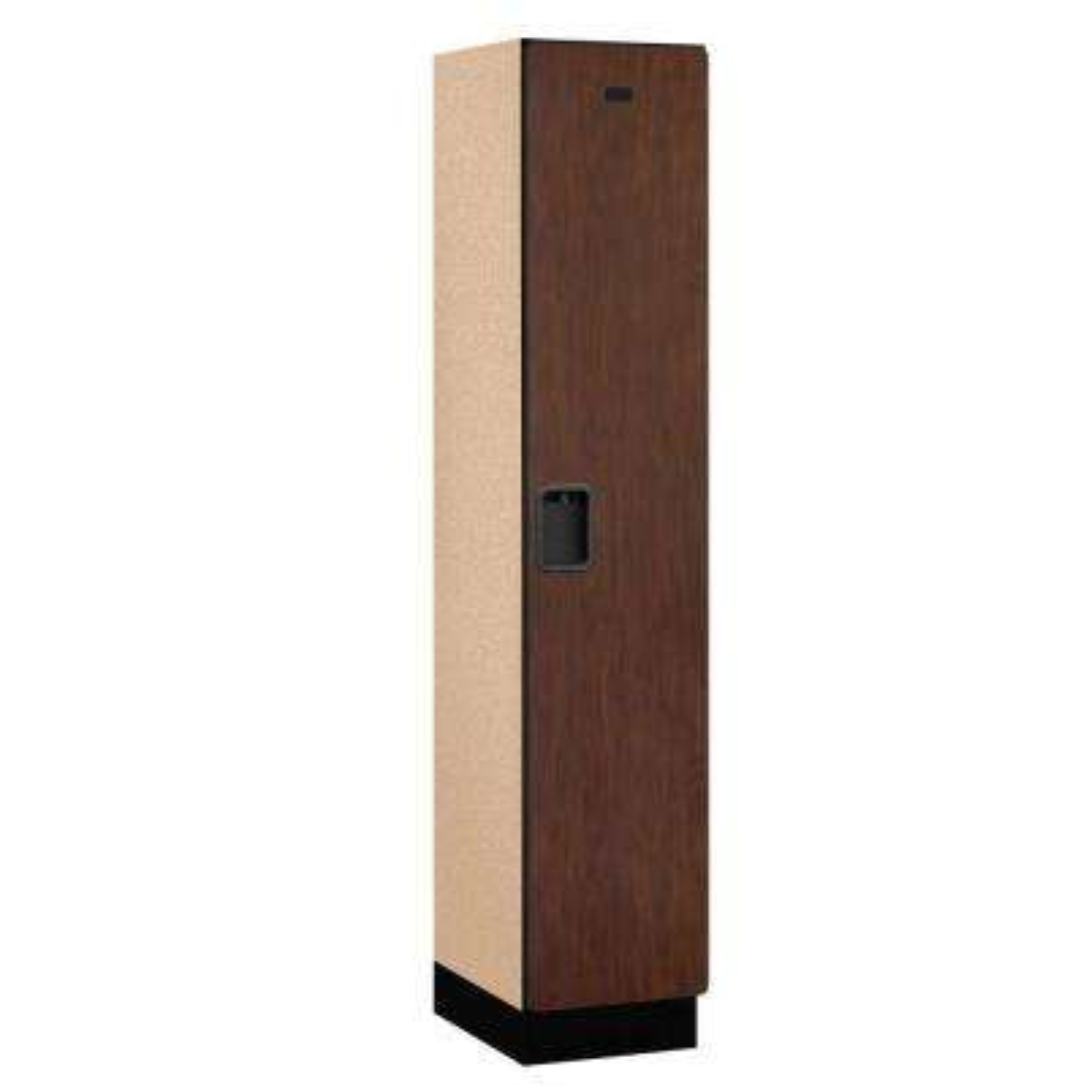 21000 Series 1-Tier Wood Extra Wide Designer Locker in Mahogany - 15 in. W x 76 in. H x 18 in. D