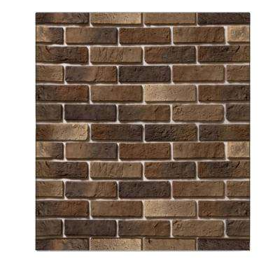 Falkirk Jura 3/10 in. x 28 in. x 30 in. All Shades Brown Faux Bricks PE Foam Peel-and-Stick Wall Panel