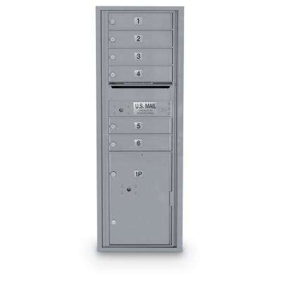 6 Door Standard 4C Mailbox with 1 Parcel Locker