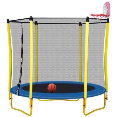 60-inch Trampoline w/ Enclosure Include Basketball Hoop and Ball