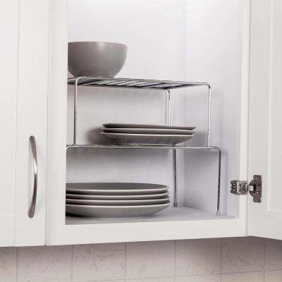 White Expandable and Stackable Storage Shelves