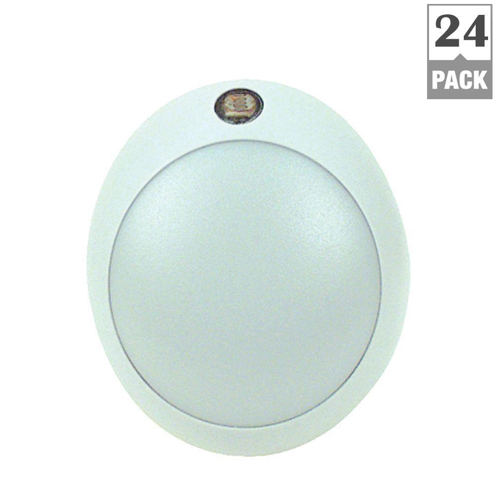 Eternalite 1W Equivalent Automatic Sensor LED Round Night Light (24-Pack)