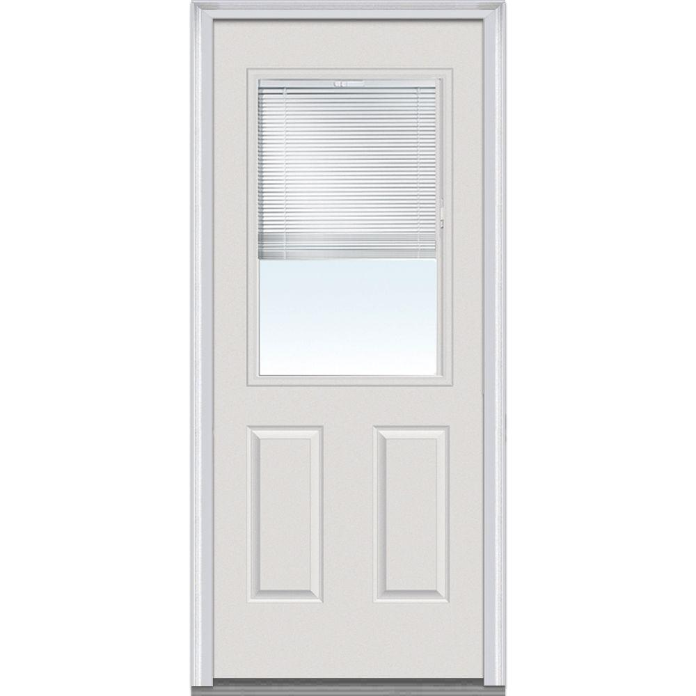 Mmi Door 32 In X 80 In Severe Weather Internal Blinds Right Hand 1