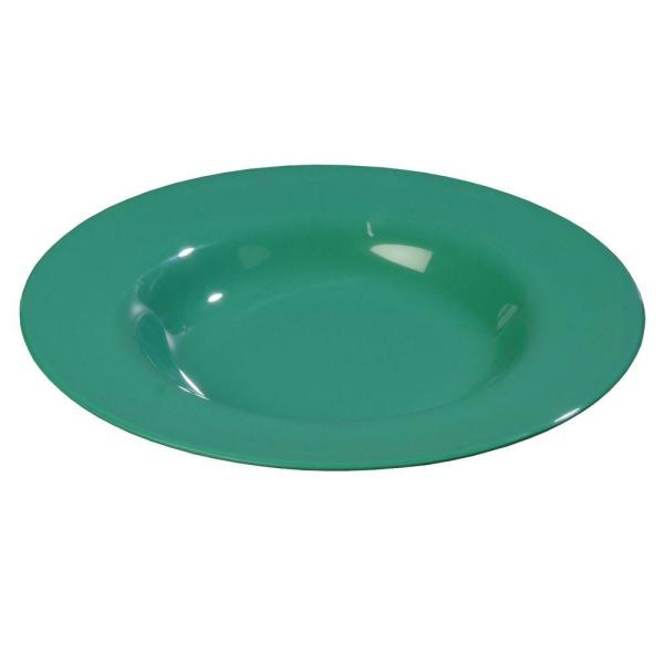 20 oz , 12 02 in  Diameter Melamine Chef Salad/Pasta/Soup Bowl in Meadow  Green (Set of 12)