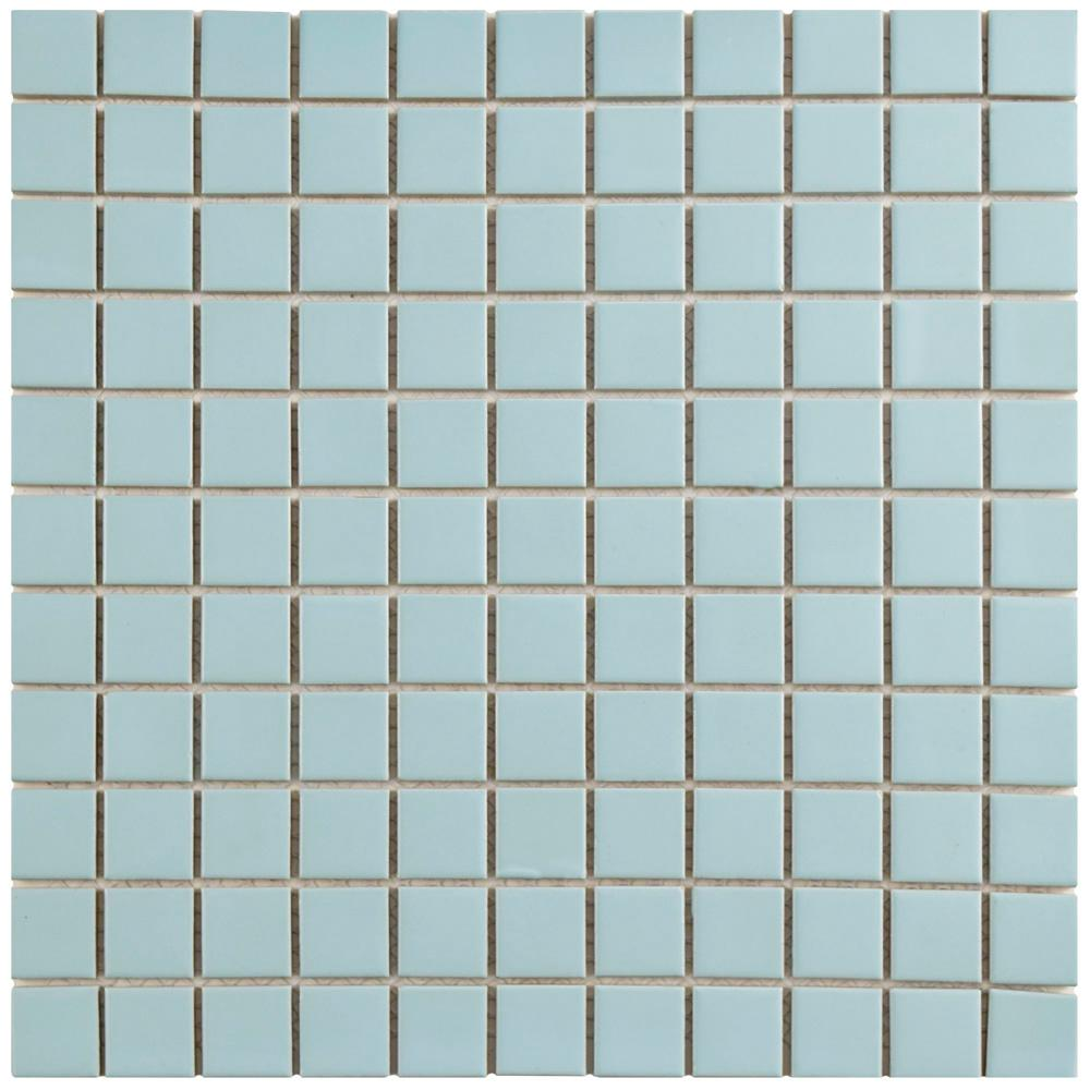 Merola Tile Metro Square Matte Light Blue 11-3/4 in. x 11-3/4 in. x ...