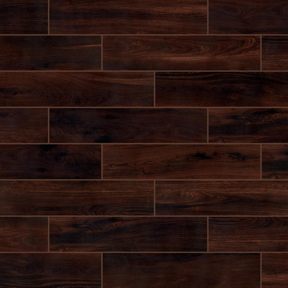 Florida Tile Home Collection Beautiful Wood Cherry 8 in. x 36 in. Porcelain Floor and Wall Tile (126 sq. ft. / pallet)