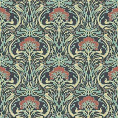 8 in. x 10 in. Donovan Moss Nouveau Floral Sample