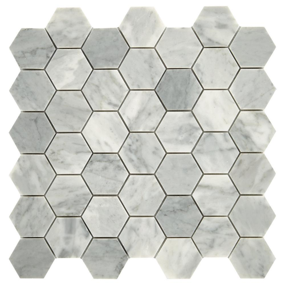 Daltile Restore Mist Honed 12 in. x 12 in. x 8mm Marble Mosaic Floor and Wall Tile (0.97 sq. ft./ piece)