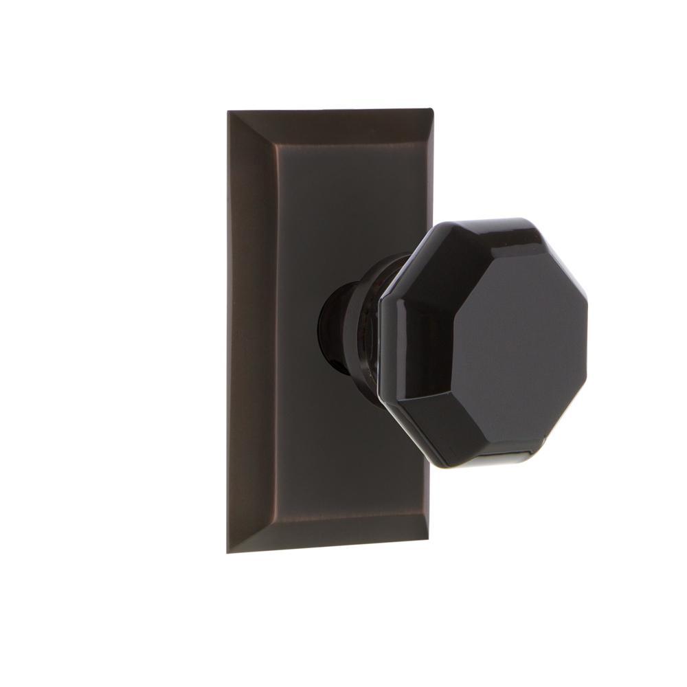 Nostalgic Warehouse Studio Plate 2 3 8 In Backset Timeless Bronze Privacy Bed Bath Waldorf Black Door Knob 725165 The Home Depot