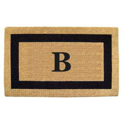 Single Picture Frame Black 22 in. x 36 in. HeavyDuty Coir Monogrammed B Door Mat