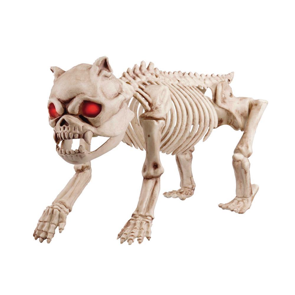 Home Accents Halloween 26  Animated Skeleton Greyhound with LED Illuminated Eyes