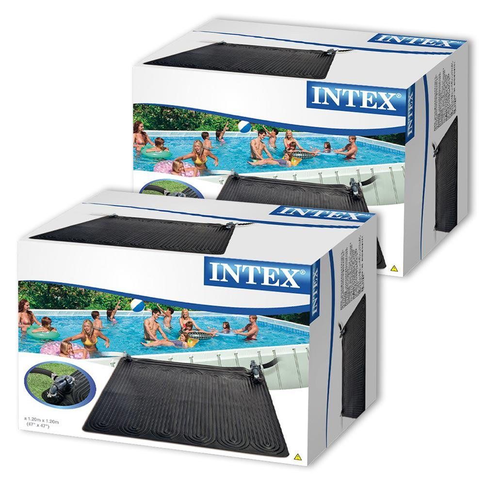Reviews For Intex Solar Mat Above Ground Solar Heater 2 Pack 28685e 02 The Home Depot