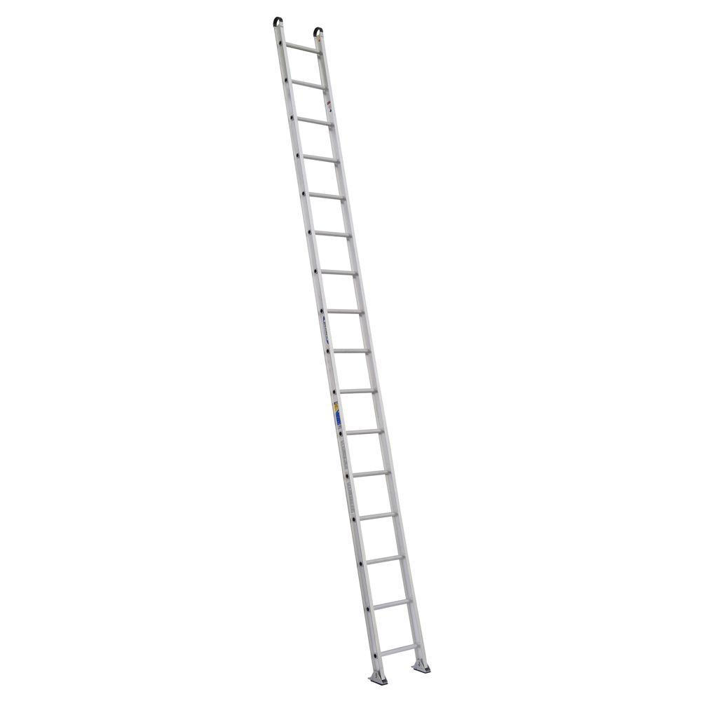 Werner 16 ft. Aluminum Round Rung Straight Ladder with 375 lb. Load Capacity Type IAA Duty Rating