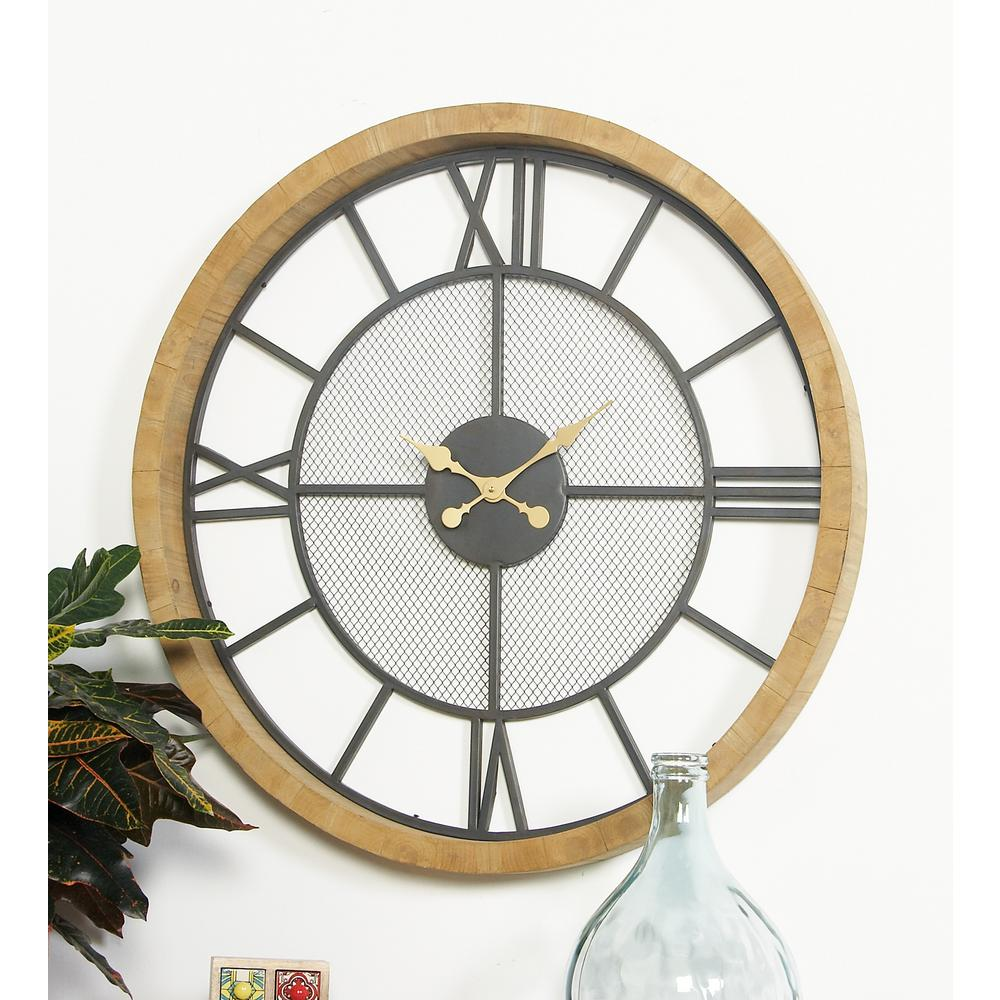 Yosemite Home Decor 16 In Circular Iron Wall Clock In