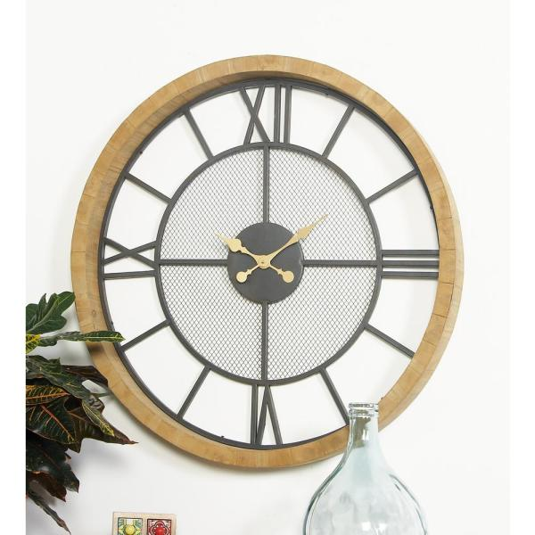 Litton Lane Multi Colored Contemporary Wall Clock 89262