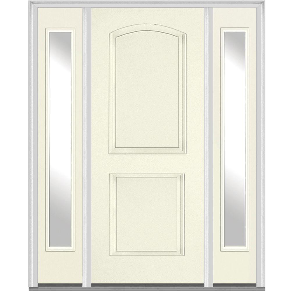 Alabaster Glass Panels : Mmi door in panel archtop painted