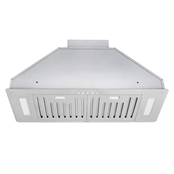 30 in. 550 CFM Insert Range Hood in Stainless Steel with Baffle Filters