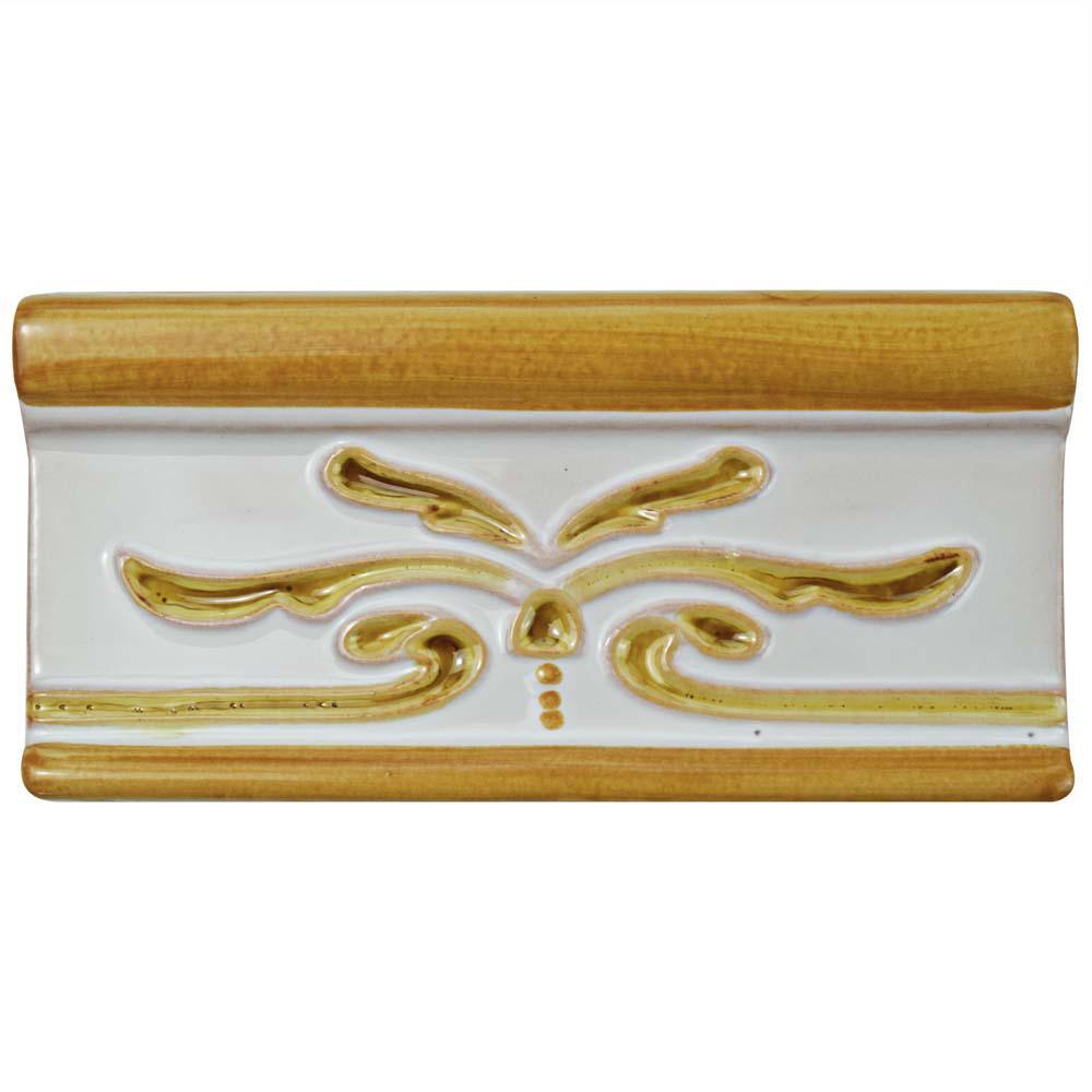 Novecento Cenefa Evoli Camel 2-5/8 in. x 5-1/8 in. Ceramic Wall Trim Tile