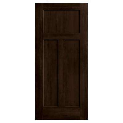 36 in. x 80 in. DesignGlide Craftsman Espresso Stained Molded Composite MDF Barn Door Slab