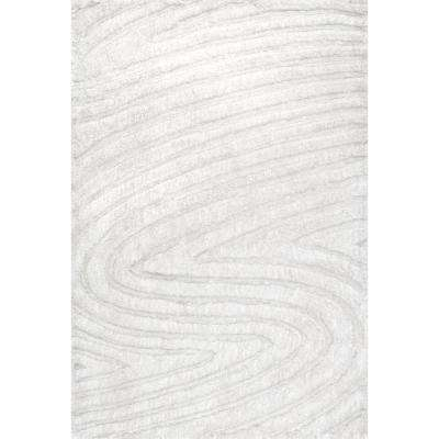 Handmade Isabel Swirl Off White 7 ft. 6 in. x 9 ft. 6 in. Area Rug