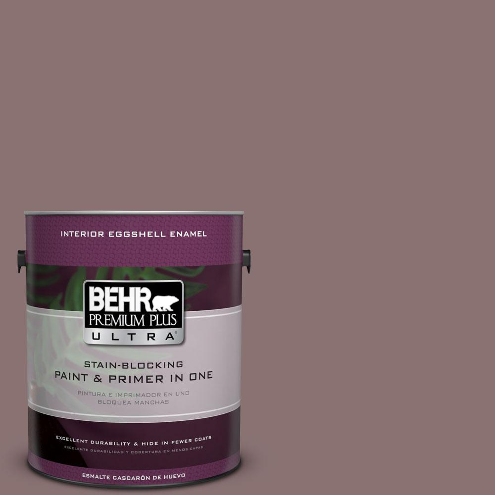 BEHR Premium Plus Ultra Home Decorators Collection 1-gal. #HDC-AC-28 Smokey Claret Eggshell Enamel Interior Paint