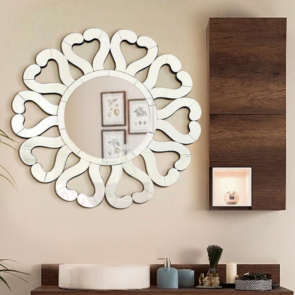 Medium Round Hooks Mirror (31 in. H x 31 in. W)