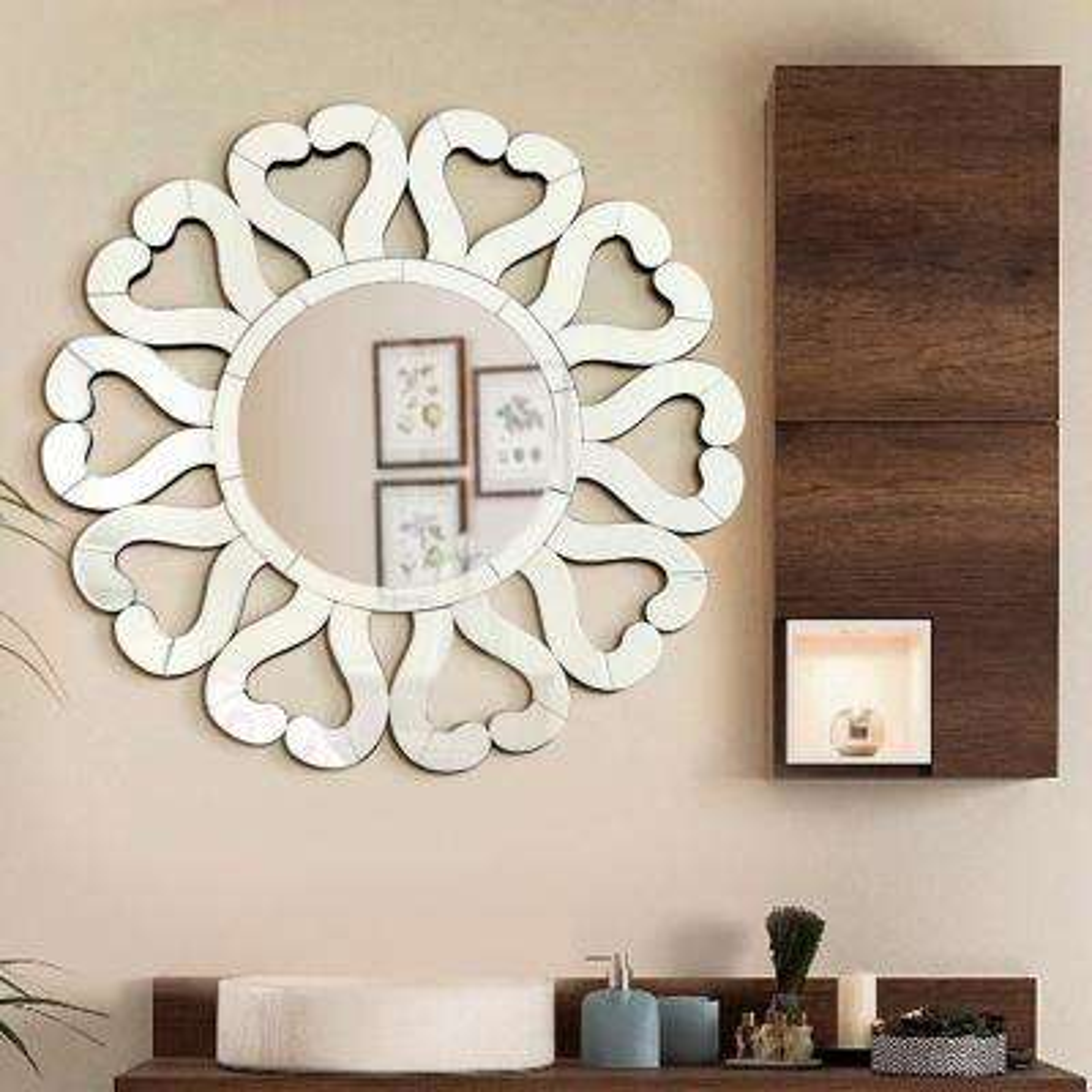 31.5 in. x 31.5 in. Di Amore Stylish Sunburst Wall Mirror