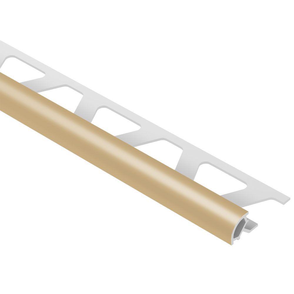 Rondec Light Beige 1/4 in. x 8 ft. 2-1/2 in. PVC Bullnose Tile Edging Trim
