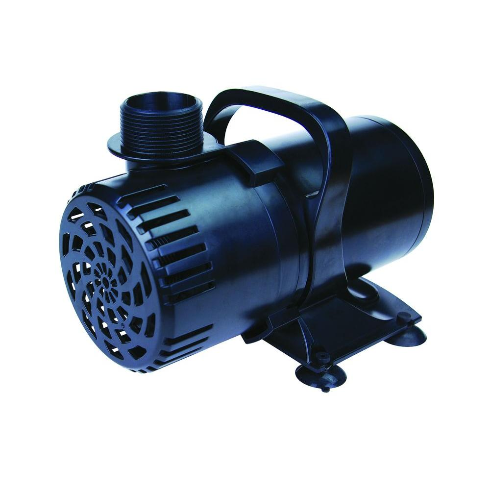 Pond Pump Placement Of Lifegard Aquatics 5300 Gph Pond Pump R800003 The Home Depot