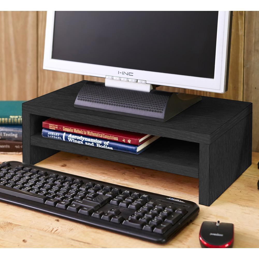 zBoard Eco 2-Shelf Computer Monitor Stand in Black