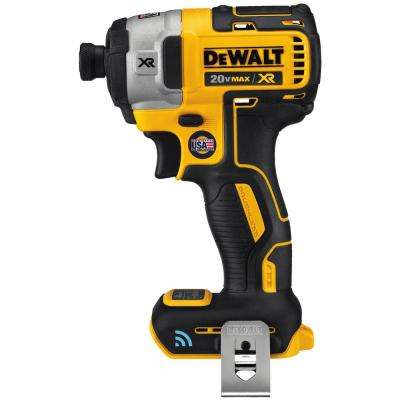 20-Volt MAX XR with Tool Connect Premium Brushless Lithium-Ion ¼in Hex Impact Driver (Tool Only)