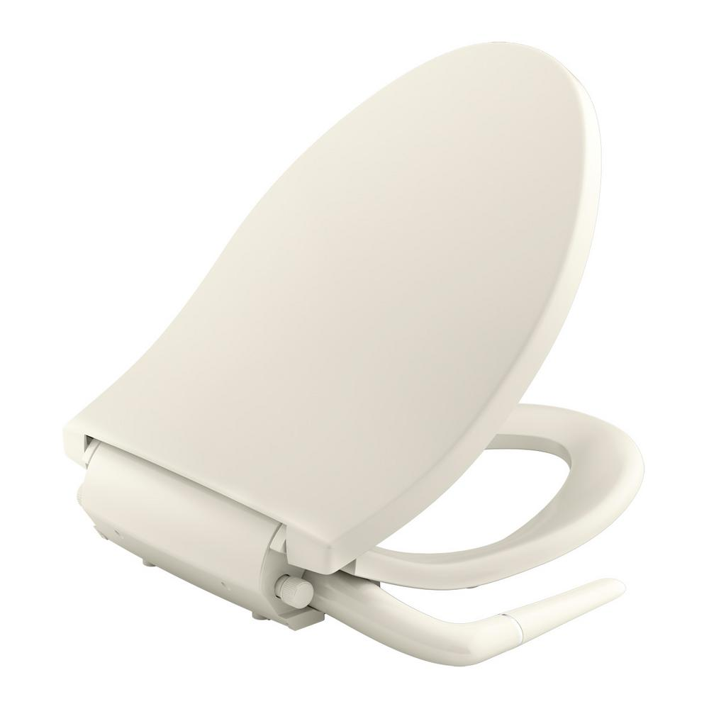 parts of a toilet seat. Puretide Non Electric Bidet Seat for Elongated Toilets in Biscuit KOHLER  Seats Bidets Parts The Home Depot