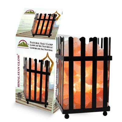 7.9 in. Ionic Crystal Natural Salt Picket Fence Lamp 7-8 lbs.