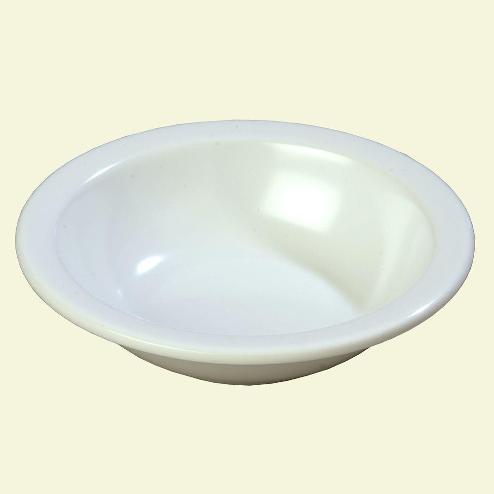 10.0 oz., 5.95 in. Diameter Melamine Grapefruit Bowl in White (Case