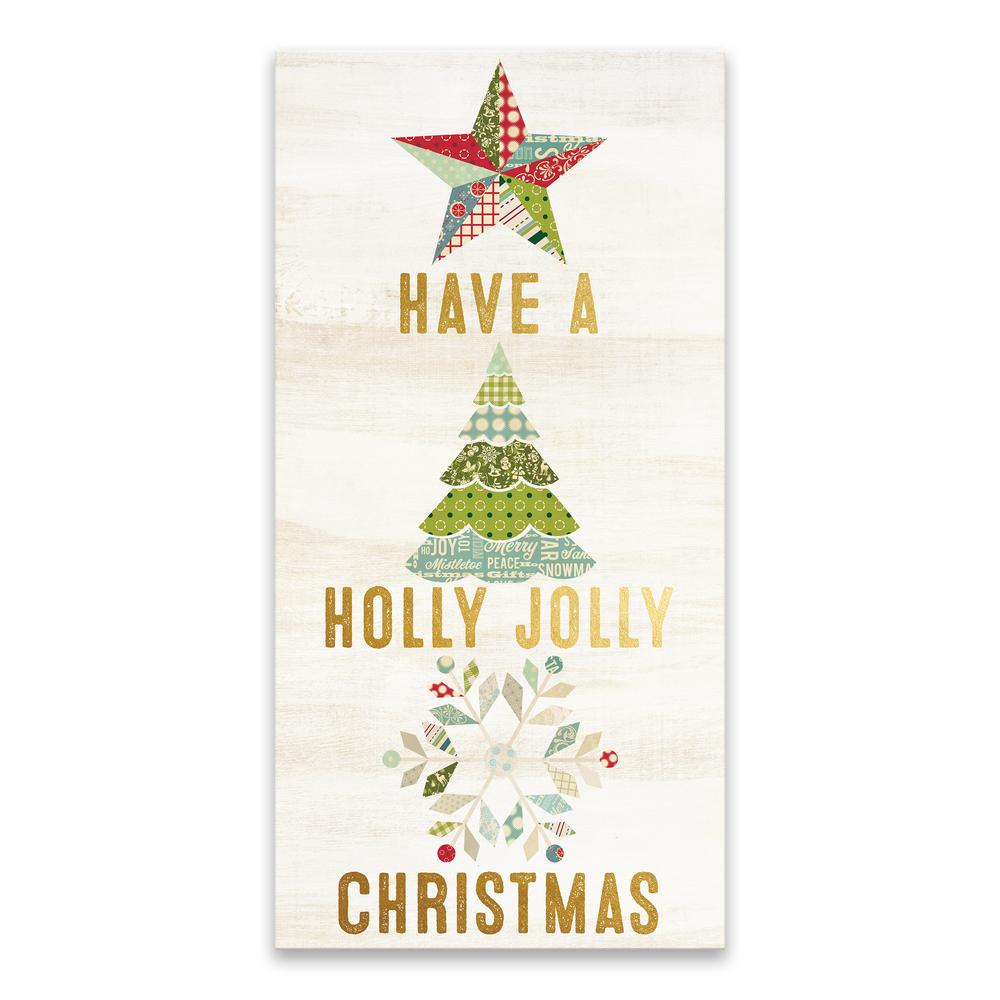 Holly Jolly Christmas.Artissimo Designs Have A Holly Jolly Christmas By Lot26 Studio Printed Canvas Wall Art