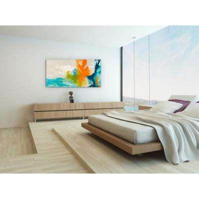 "24in.x48in.""Tidal Abstract 1"" Frameless Free Floating Tempered Glass Panel Graphic Art"