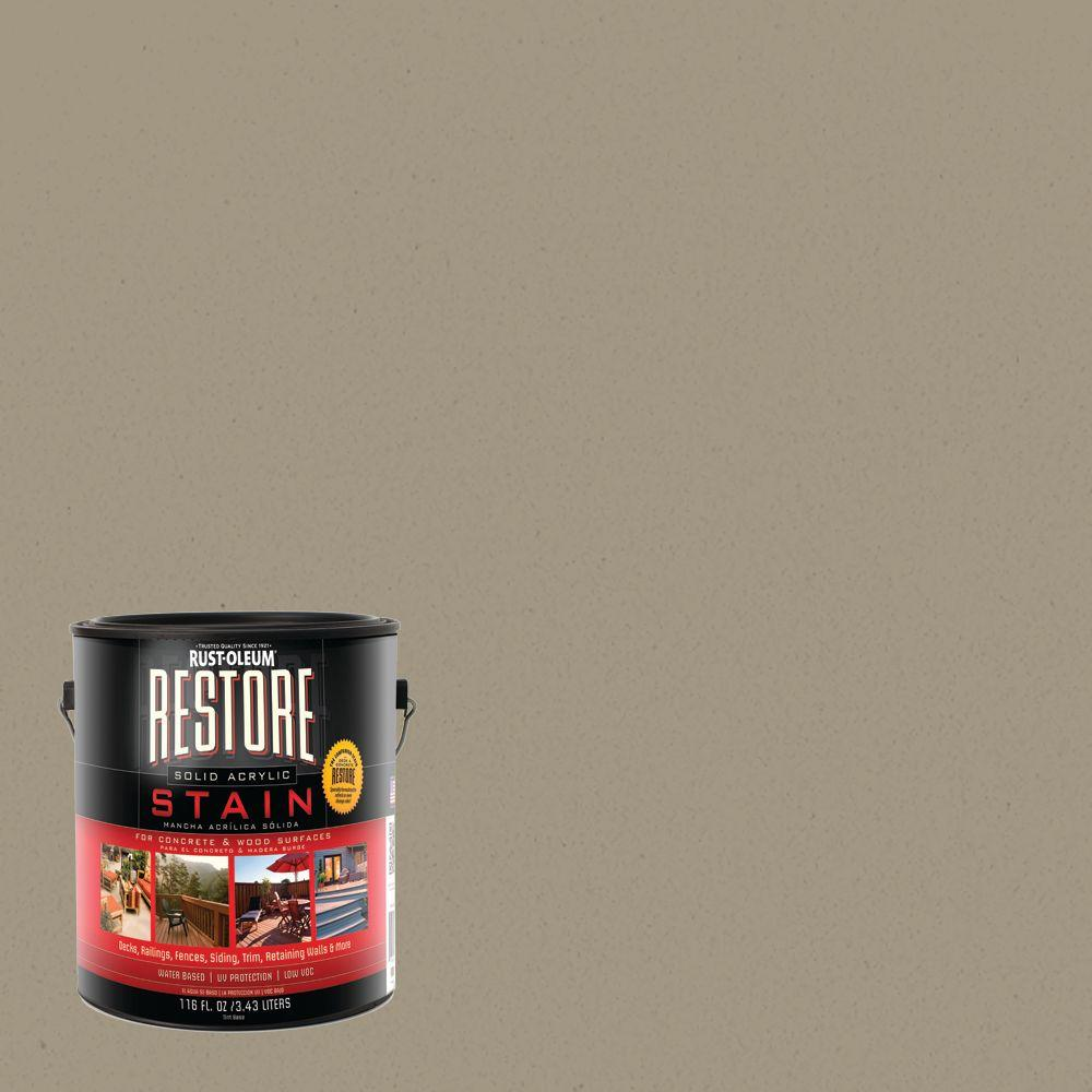 Rust-Oleum Restore 1 gal. Putty Solid Acrylic Exterior Concrete and Wood Stain