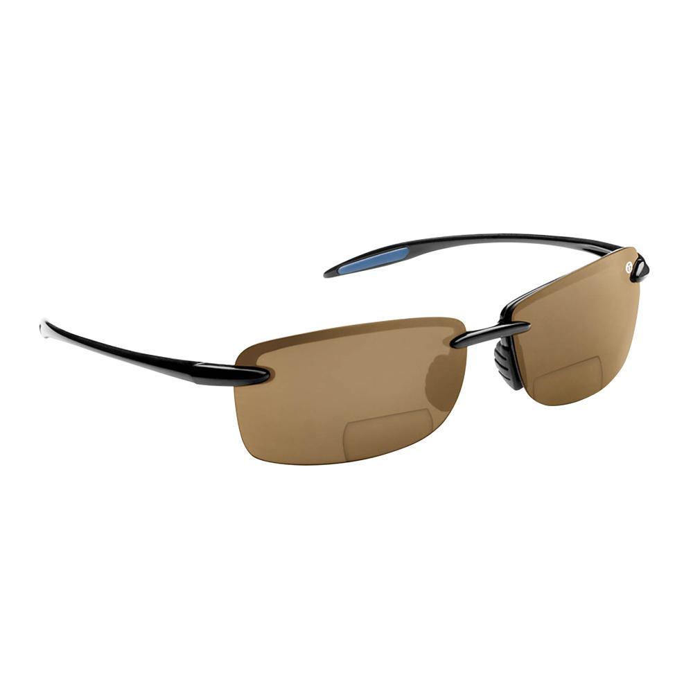 9b56c9721d7 Flying Fisherman Cali Polarized Sunglasses Black Frame with Amber Lens  Bifocal Reader 250