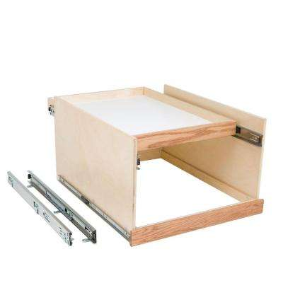 Made-To-Fit 12 in. to 24 in. Wide Double DekTM Slide-Out Cabinet Organizer System with Full Extension, Solid Wood Front