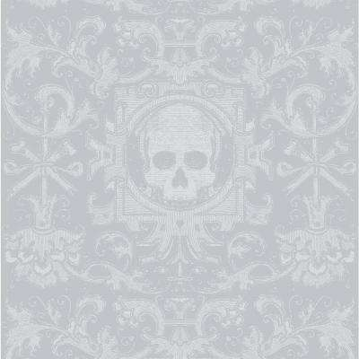 Debut Collection Skull Box in Grey Removable and Repositionable Wallpaper