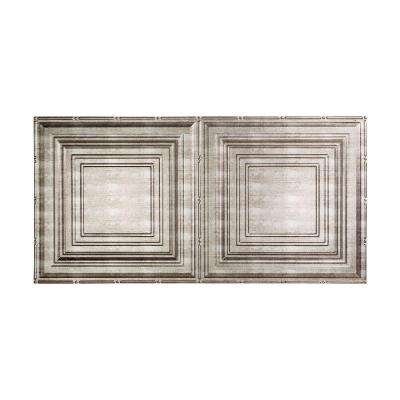 Traditional 3 - 2 ft. x 4 ft. Glue-up Ceiling Tile in Crosshatch Silver