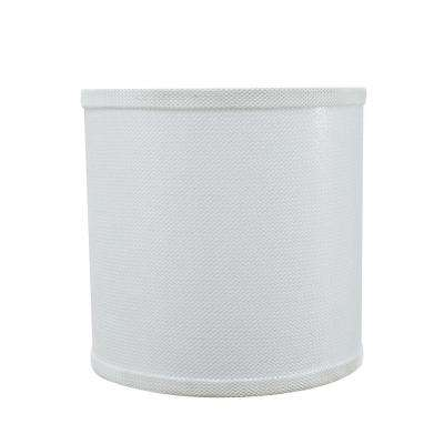 8 in. x 8 in. White Drum/Cylinder Lamp Shade