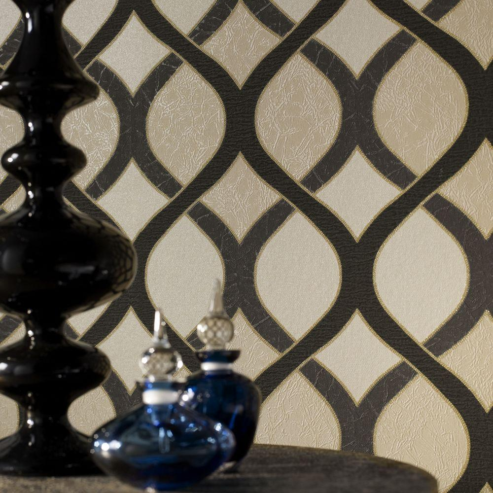 Graham & Brown Highbury Black Wallpaper