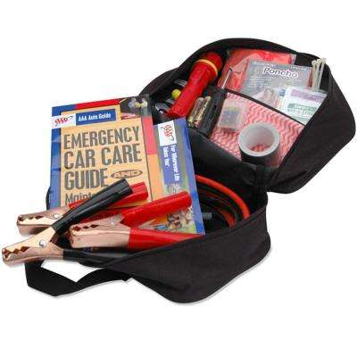 Emergency Roadside Safety and First Aid Kit 42 Piece
