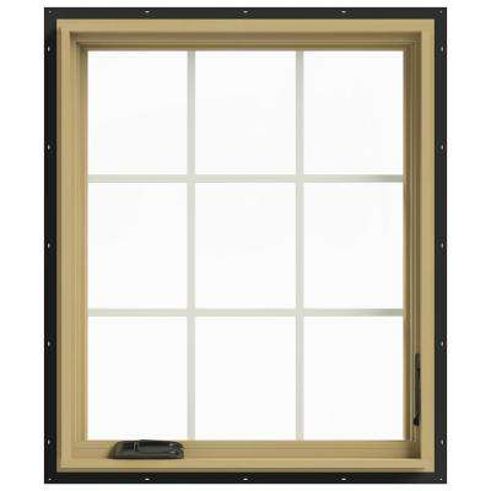 30 in. x 36 in. W-2500 Right-Hand Casement Aluminum Clad Wood Window