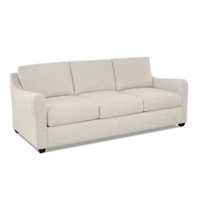 Paige 87 in. Pearl Fabric 3-Seater Sofa with Removable Cushions