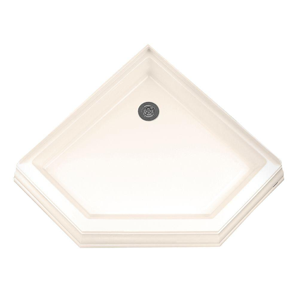 American Standard Town Square 38-1/4 in. x 38-1/4 in. Single Threshold Neo-Angle Corner Shower Base in Linen