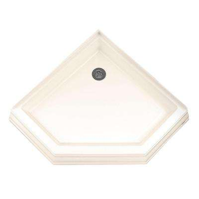 Town Square 38-1/4 in. x 38-1/4 in. Single Threshold Neo-Angle Corner Shower Base in Linen