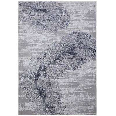 Kenmare Alice Gray 5 ft. 3 in. x 7 ft. 2 in. Indoor Area Rug