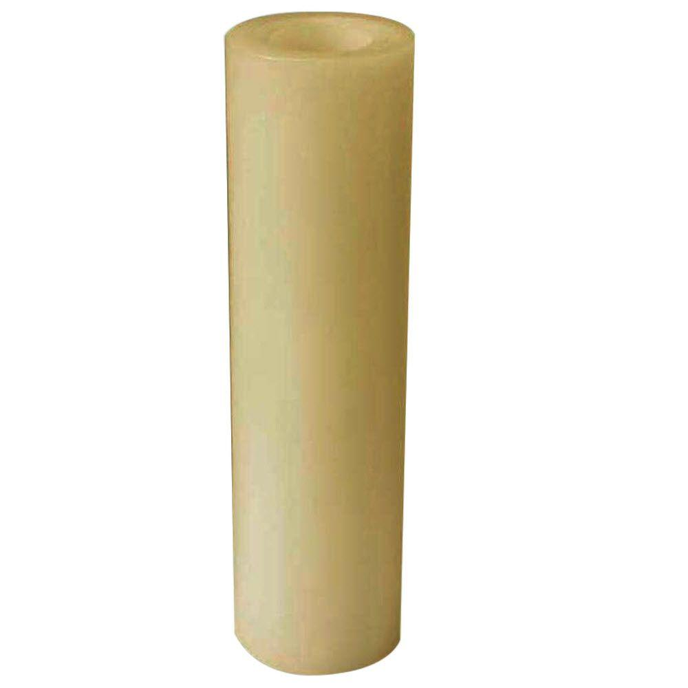 Home Decorators Collection 12 in. Candle Impressions Smooth LED Candle in Cream